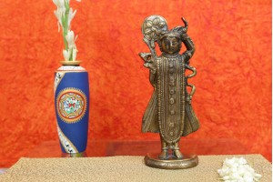 Lord Tirupati Balaji Hindu God Brass Statue