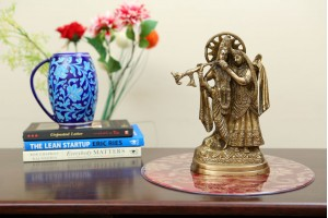 Brass Radha krishna Idol