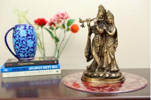 Radha Krishna Brass Figurine