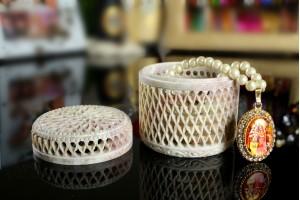 Gorara Stone Jewellery Box-7 Cm