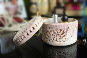 Gorara Stone Jewellery Box-9 Cm
