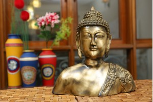 Lord Buddha Brass Bust