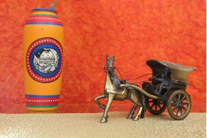Horse Cart Crafted In Brass