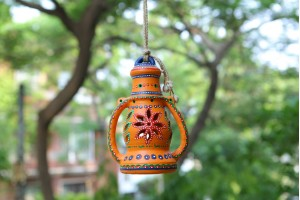 Terracotta Decorative Lantern-25 cm