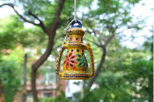 Terracotta Decorative Lantern-16 cm
