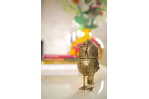 Owl Container: Dhokra Art