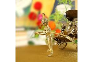 Rickshaw Showpiece: Dhokra Art