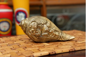 Shankh Carving Brass