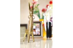 Bankura Horse Showpiece: Dhokra Art-23 cm