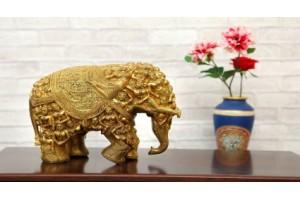 Elephant Brass Figurine