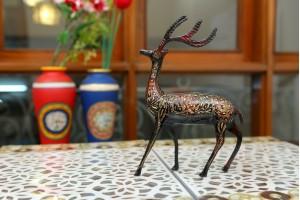 Brass Lacquer Swamp Deer