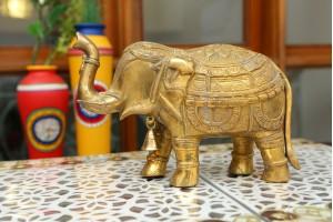 Brass Elephant Showpiece