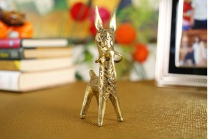 Bankura Horse Showpiece: Dhokra Art-15 cm