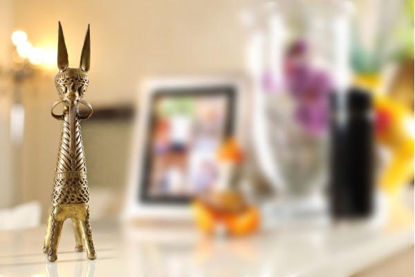 Bankura Horse Showpiece: Dhokra art-29 cm