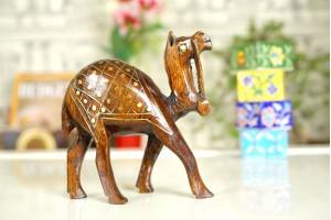 Hardwood Camel with Tarkashi work