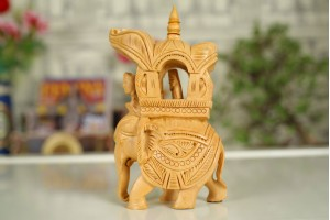 Wood Carved Ambabari Elephant