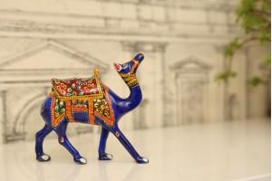 Meenakari Camel Figurine