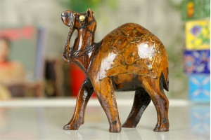 Wooden Camel with Tarkashi work