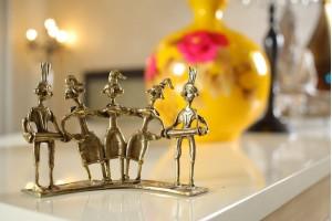 Set of Folk Dancers and Musicians: Dhokra Artwork