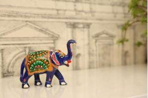 Meenakari Ambabari Elephant-10 cm