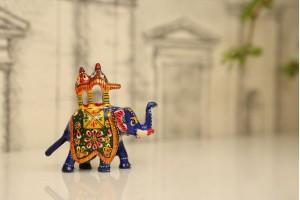 Meenakari Ambabari Elephant-7 cm