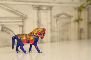 Meenakari Horse Figurine