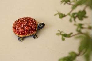 Tortoise with meenakari work-9 cm