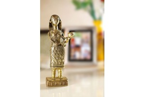 Dhokra Art- Mother With Child in Hand