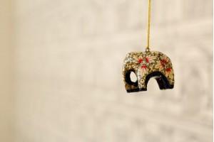 Paper Mache Hanging Elephant