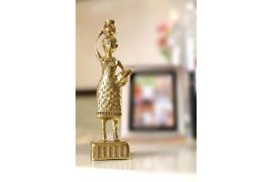 Adivasi Working Lady Dhokra Art