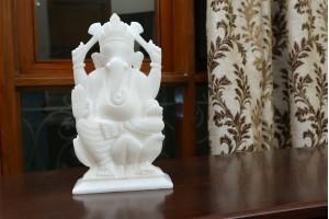 Marble Crafted Ganesha-12 CM
