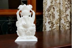 Marble Crafted Ganesha-16 CM