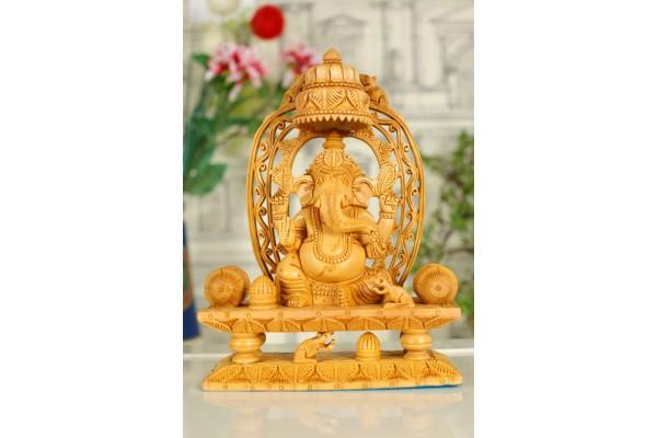 Wood carved Ganesh Statue