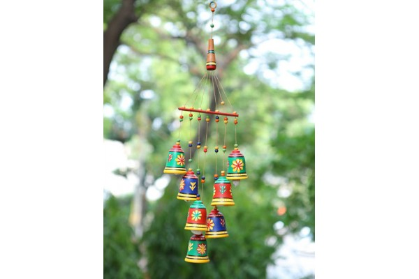 Bells Hanging Wind Chimes: Terracotta