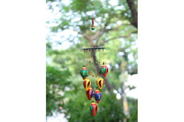 Shankh Hanging Wind Chimes: Terracotta