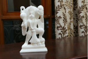 Hanuman Ji Crafted In Marble-12 Cm
