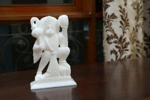 Hanuman Ji Crafted In Marble-17 Cm