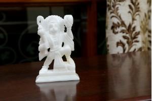 Hanuman Ji Crafted In Marble-21 CM