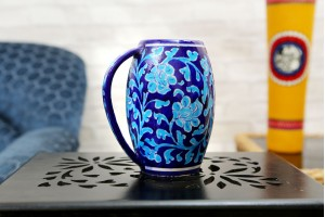 Blue Pottery Beer Mug