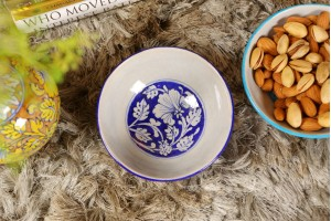 Blue Pottery Serving Bowl