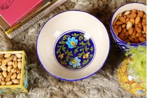 Serving Bowl : Blue Pottery