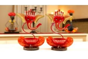 Ganesha Shape Diya set