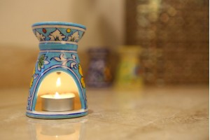 Aroma Diffuser Blue Pottery-10 cm