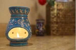 Aroma Diffuser Blue Pottery-15 cm