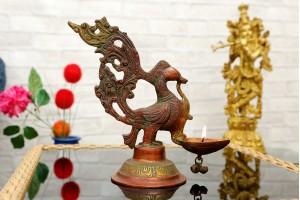 Bird Shape Brass Diya