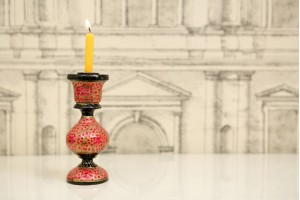 Candle Stand: Paper Mache