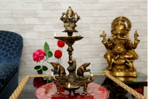 Brass Oil Lamp With Ganesha