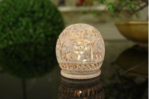 Gorara stone Tea light holder:8 cm