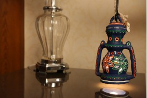Terracotta Lantern With Light :25 cm