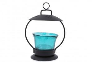 Glass Tea Light Holder- Blue Color